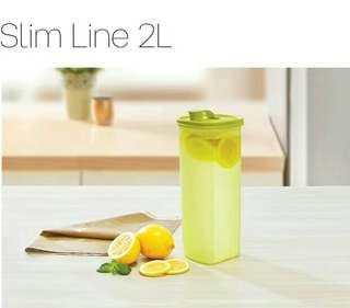Slim Line 2L Tupperware (new)
