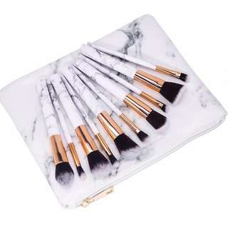 *Marble Edition* 10pcs Brush Set Gift Box