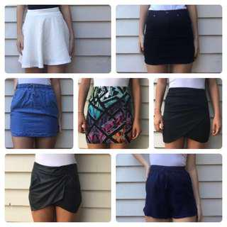 7 skirts for $20!!