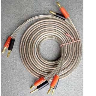 Gauge 10 Speaker Cables 2.0m Pair