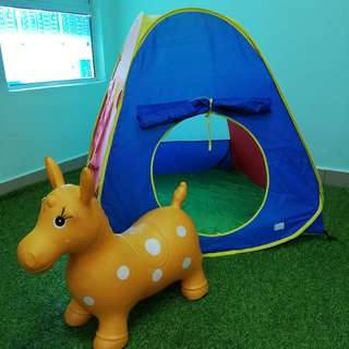 Play tent and bouncy horse