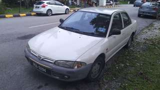 Proton Wira White 1.3 GL Manual Car