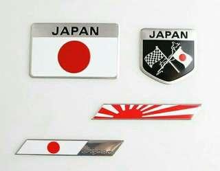 Japan Metal Decal