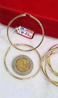 18k Loop earring's saudi gold