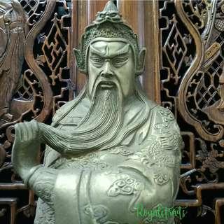 Guanyu Brass Figurine