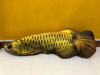 Golden Arowana Pillow