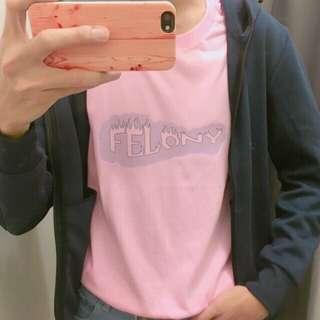 """Felony"" Korean Oversized Shirt"