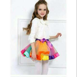 Girl Rainbow Tutu Skirt