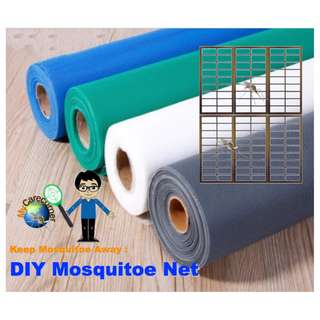DIY One Big Rolls ( White with extra thickness ) of Mosquito NETs 1.2 X 10 Meters Keep Mosquito away from house home