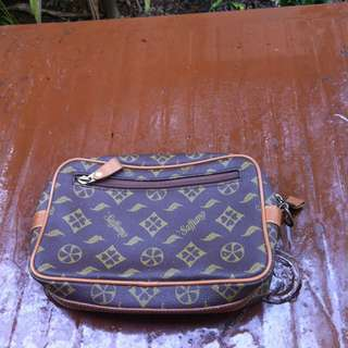 Saffiano leather cluth bag.   In good condition.