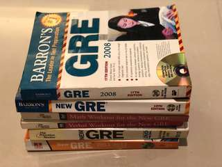 GRE books: Barron's, Princeton and McGraw Hill