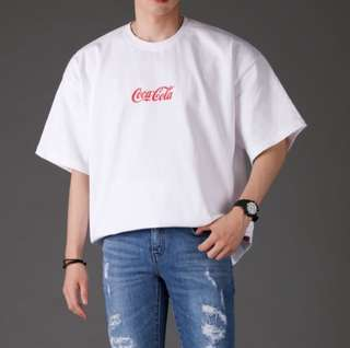 """Coca-Cola"" Korean Oversized Shirt"