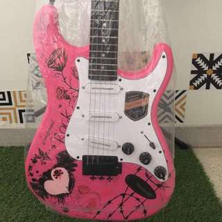 pink love electric guitar (new)