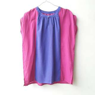 Two Tone Loose Blouse