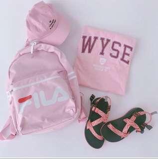 FILA(絕版)粉色後背包