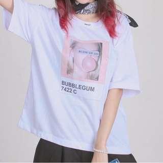 """""""Bubblegum"""" Korean Oversized Shirt"""