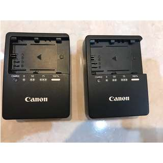 CANON ORIGINAL LP-E6 CHARGER x 2 USED