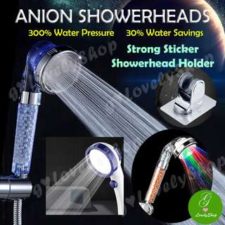 Anion Purifying Showerheads - many types