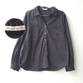 Continuer Black Studed Blouse