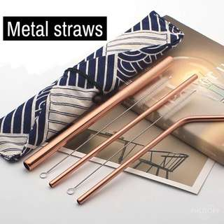Metal Straws (3 different straws)