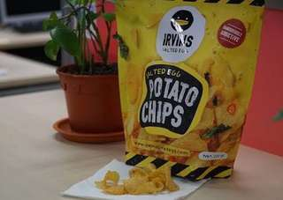 Irvins Salted Egg Chips: Small