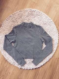TOPSHOP Jacquard Crop Sweater top
