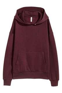 H&M Unisex Maroon Sweatshirt