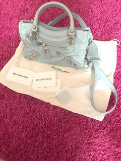 Balenciaga mini baby blue