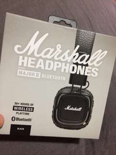 Brand New Authentic Marshall Major II Bluetooth Headphones Black Wireless