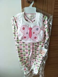 Baby girl sleepsuit gift