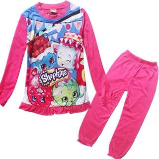 In stock: Shopkins Design Pajamas/ Sleepwear 1120
