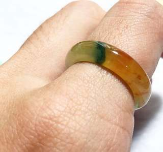 Icy double colour jadeite ring