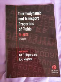 Thermodynamic and Transport Properties of Fluids (Fifth edition)