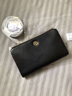 Tory Burch Wallet Crossbody (Black)