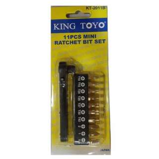 11pcs King Toyo Mini Ratchet Bit Set