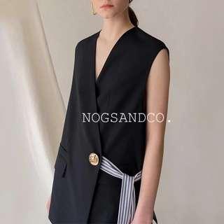 NC1022 Minimalist Stripped Vest
