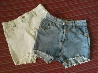 2 denim shorts