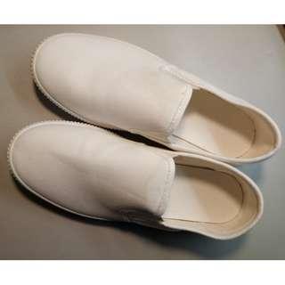 Muji無印懶人白鞋 L