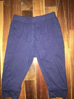 Carters baby pants baby joggers navy baby navy pants baby bottoms (9 months)