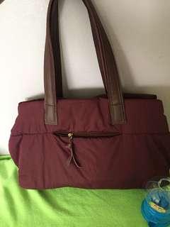 Prelove Maroon Shoulder bag