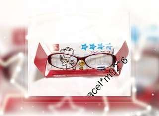 日本購回 PEANUTS ~名古屋 正版 Snoopy 防花粉 紅色 眼鏡 一副 *附送布索袋一個 I-01