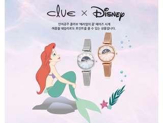 代購 小美人魚 x clue 韓國飾品品牌聯名 手錶
