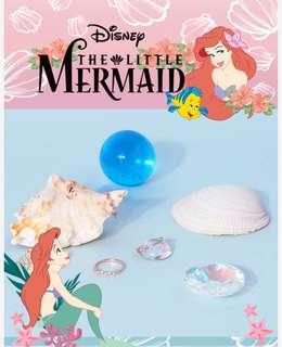 代購 小美人魚 x clue 韓國飾品 聯名 戒指