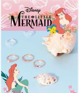 韓國代購 小美人魚 x clue 韓國飾品 聯名 戒指