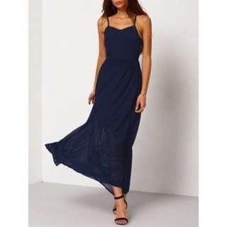 🚚 BRAND NEW navy blue prom dress