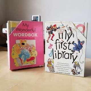 Reader's Digest My Wonderful Wordbox + My First Library