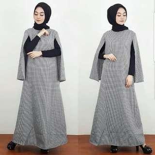 VGC - 0418 - Dress Gamis Busana Muslim Wanita Helena Cape (tanpa iner)