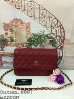 Chanel WOC Maroon Color
