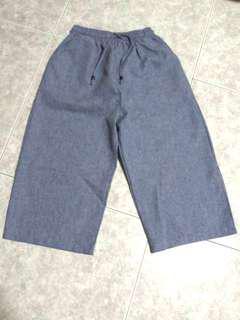 Tweed blue culottes