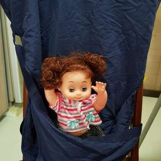 Portable travel high chair seat cover